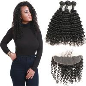 Romance Curl Virgin Brazilian Hair Extensions / 100 Brazilian Human Hair Weave