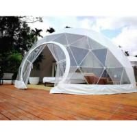 Cheap 4M Garden Igloo Geodesic Dome Tent , Outdoor Geodesic Event Dome House Tent for sale