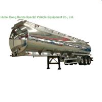 Cheap Aluminum Alloy Fuel Tank Semi Trailer 45000L ~50000L With Air Bag Suspension for sale