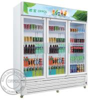 Cheap OP-A400 CE Approved Supermarket 1000L Capacity Glass Door Fridge for sale