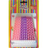 Cheap Clean Buring Print Birthday Candles Pink Purple For Easter , Household H9.86 cm for sale