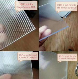 Cheap 3D Lenticular Lens Sheet  18lpi 120cmx240cm 3mm lenticular board for  3D lenticular wedding photo and big size 3d print for sale