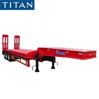 Buy cheap 3 Axle 80 Ton Low Bed Semi Trailer for Sale in Nigeria from wholesalers
