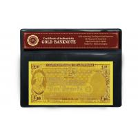 Cheap 24k Gold Banknote with 10 COMMON WEALTH OF AUSTRALIA for sale
