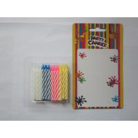 Cheap 24 Pcs Twisted Birthday Candles Mix Color No Smoking Wax 19g Regular Candle for sale