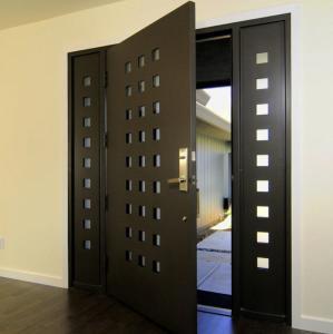 Cheap USA Villa Main Entry Door Modern Design Pivot Wooden Doors for sale