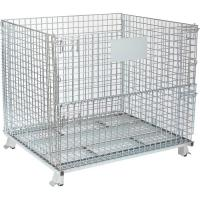 Cheap Powder Coated Wire Mesh Container  With Reinforced Under Structure for sale