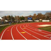 Buy cheap Spray Coating Green Synthetic Rubber Flooring / Commercial Running Track Surfaces from wholesalers
