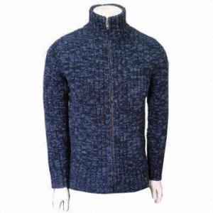 Cheap Fashionable Men's Cashmere Cardigan, Woolen Wear, Warm for sale