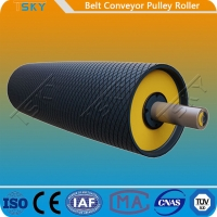 China Heavy Duty Belt Conveyor Motorized Driving Pulley Drum With Rubber Lagging DIN, AFNOR, FEM, BS, JIS, SANS, CEMA on sale