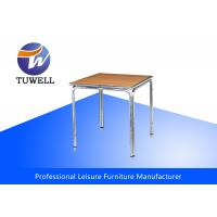 Cheap Curved Edge Aluminum Wooden Table for sale