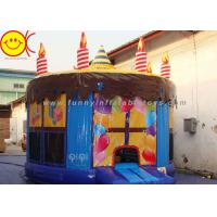 Quality 0.55mm PVC Birthday Cake Inflatable Bounce House Jumper Combo Bouncer For Kids wholesale