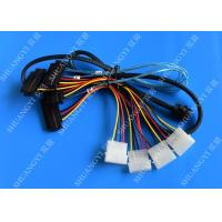 Cheap Internal Mini SAS SFF-8643 to (4) 29pin SFF-8482 connectors with SATA Power ,1M for sale