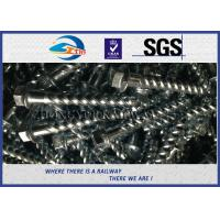 Cheap Steel 35# Spiral Spike nails HDG coating  For Rail Fastening System for sale