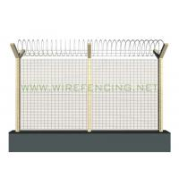 Cheap ISO High Security Anti Climbing Fence 358 Security Fence 72.6*12.7mm Green for sale