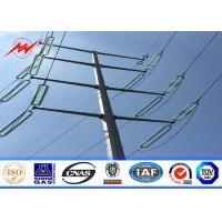 16sides 8m 5KN Steel Utility Pole for overhead transmission line power with anchor bolt