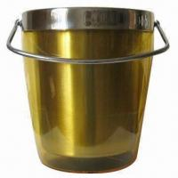Cheap Double Wall Ice Bucket with Handle for sale