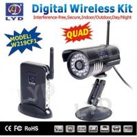 Cheap night vision 2.4Ghz 4 channel digital wireless video surveillance camera system for sale