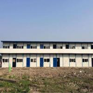 Cheap Pre Built Prefab Steel Houses , Solid Fabricated Multi Storey Steel Buildings for sale