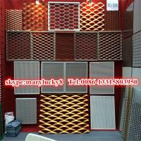 Cheap Anodized Aluminum expanded metal mesh facade for sale