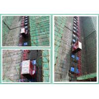 Cheap Red Rack And Pinion Passenger Material Hoist Construction Elevator Twin Cage wholesale