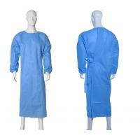 Cheap Isolation Disposable Medical Gowns , Disposable Plastic Gowns PP Material for sale