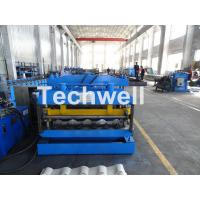 Cheap Metal Glazed Wave Tile Roll Forming Machine With Welded Wall Plate Frame and Chain Drive for sale