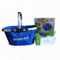 Cheap Picnic Basket, Made of Oxford Fabric + Aluminum, Measures 43 x 28 x 22cm for sale