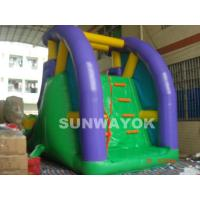 Cheap Custom 0.55 mm PVC / plato TM Inflatable Water Slide With Climber for aqua park for sale