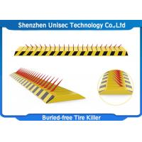 Buy cheap Yellow Color Tyre Spike Barrier / Killer Waterproof Function , Stainless Steel Material from wholesalers