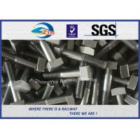 Quality High Tensile Railway Square Bolt DIN ASTM Standard M20 M22 M24 M30 Steel Bolts wholesale