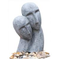 Cheap Long Face Figure Outdoor Resin Garden Fountains Decor OEM Acceptable for sale
