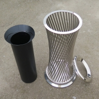 China Street Furnitures Dia 300mm 35L Disposable Trash Can on sale