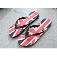 China Camouflage Painted Patterns Fashion Flip Flops Mens Beach Slippers PVC Upper on sale