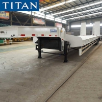 Cheap Tri Axle 80 Tons Machine Carriers Hydraulic Low Bed Trailer for sale