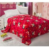Cheap Red Fleece Printed Micro Fiber Blanket 100% Polyester For Warm Mattress wholesale