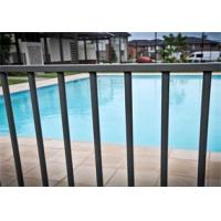 Cheap Black Powder Coated Aluminum Flat Top Swimming Pool Fence 2400mm x1200mm for sale