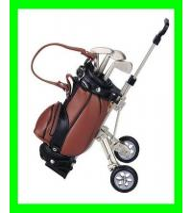 Cheap Golf Penholder with Cart wholesale