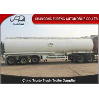Oil Tanker Trailer With Lifting Front Axle , Tanker Truck Trailer Q345 Carbon Steel