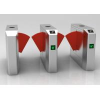 China Indoor Office Automatic Flap Barrier Turnstile Sound Or Light Alarm Function on sale