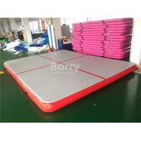 Cheap Indoor And Outdoor Red Air Track Gymnastics Mat / Inflatable Gym Mattress for sale