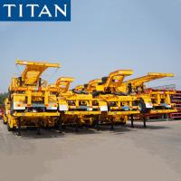 Cheap TITAN Most Popular 3 Axles 40ft Skeletal Semi Trailer for Container Transportation for sale