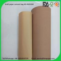 Cheap BMPAPER China supplier wood pulp one side coated paper craft liner for cement bags for sale