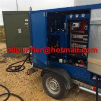 Cheap Trolley Mounted Transformer Oil Purifier, Trailer insulation Oil Regeneration System,mobile oil recycling machine cover for sale