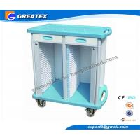 Buy cheap 2 Drawers Double Rows 50 Layers  hospital plastic record trolley ABS from wholesalers