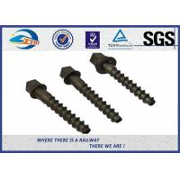 Cheap C45  C46 Steel Galvanized Coach Screw Spike For Concreate Sleeper Railway for sale