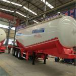 Cheap V shape silo bulk cement tanker trailer 50ton for sale