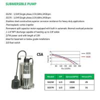 Cheap SUBMERSIBLE PUMP SS250 SS370 for sale