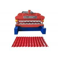 China Waterproof Glazed Tile Roll Forming Machine Middle Plate 16mm Weight 3.5-6 Ton on sale