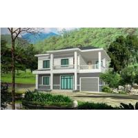 Cheap Prefabricated Rural Villa With Light Steel Frame , Quick Assemble Prefab Modular Housing for sale